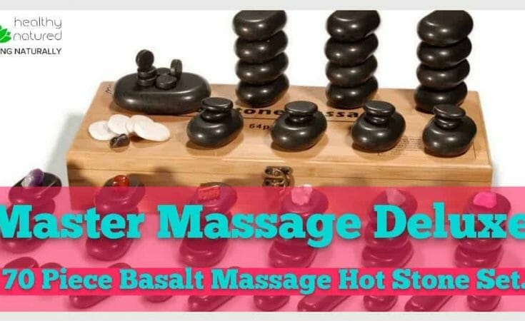 Master Massage Deluxe 70 Piece Basalt Massage Hot Stone Set