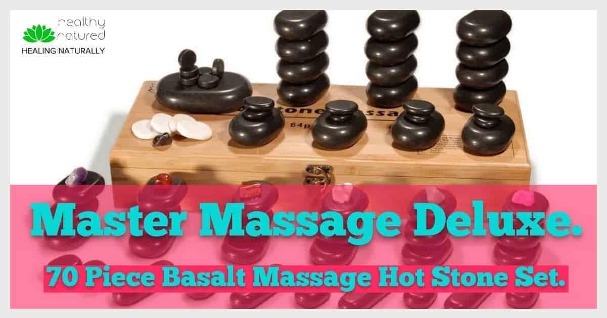 Master Massage Deluxe 70 Piece Basalt Massage Hot Stone Set