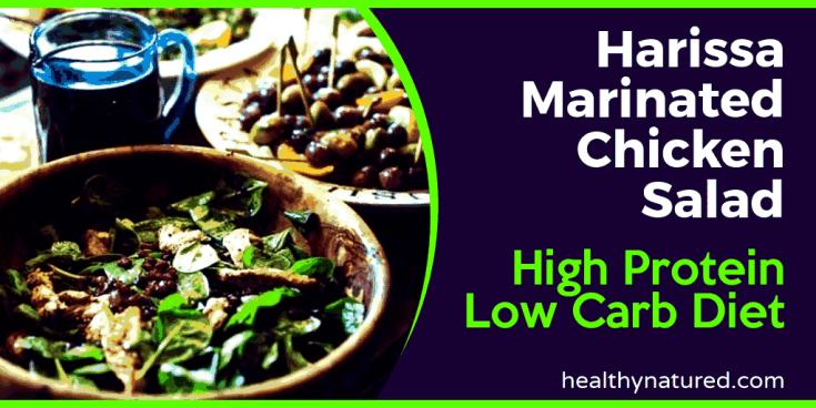 Harissa Marinated Chicken Salad High Protein Low Carb Diet