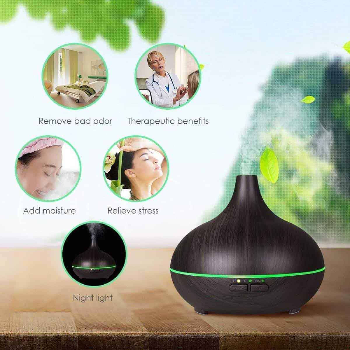 Wasserstein Aromatherapy Essential Oil Diffuser Gift Set (Aromatic Health)