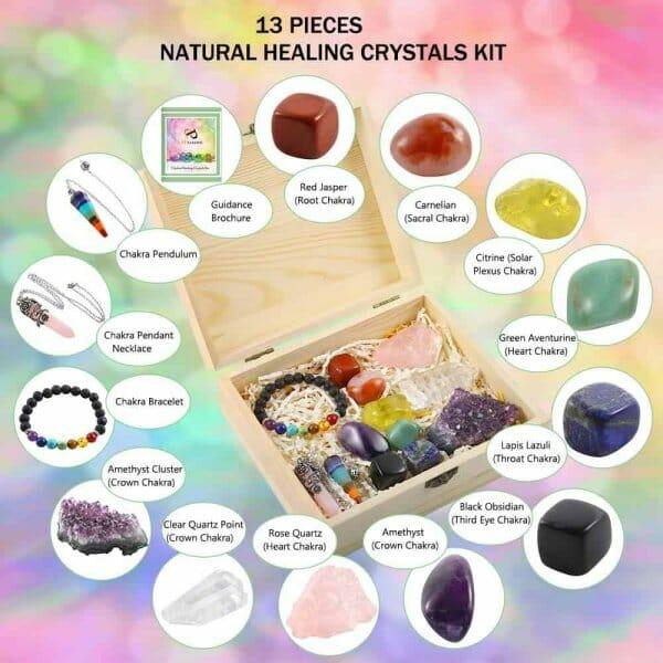 Chakra Healing Crystals Gift Kit