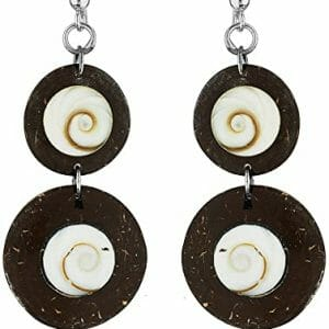 Brown Coconut Boho Hippie Earrings