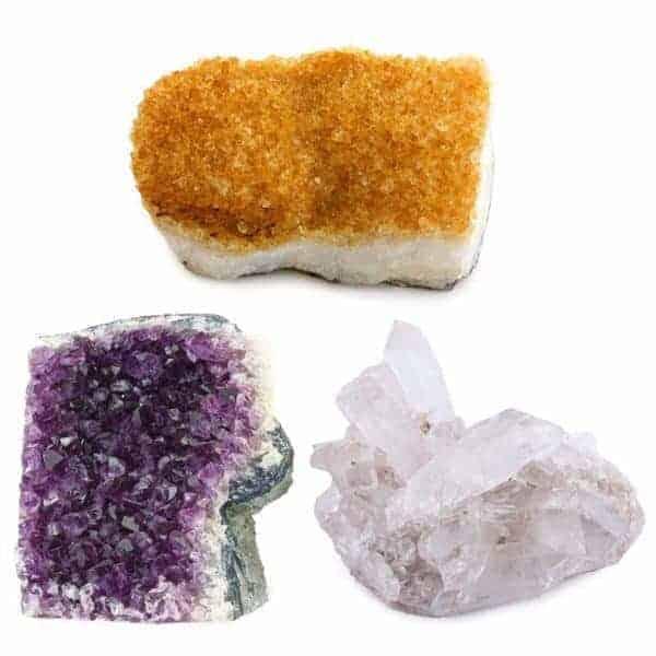 Kala Emporium Natural Gemstone Cluster (1 Piece Citrine Or Amethyst)