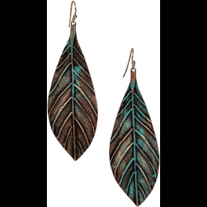 Handmade Boho Leaf Earrings