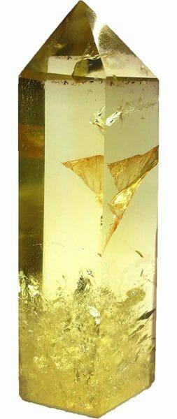 Natural Smokey Yellow Quartz Crystal (Tower Point Wand For Healing)