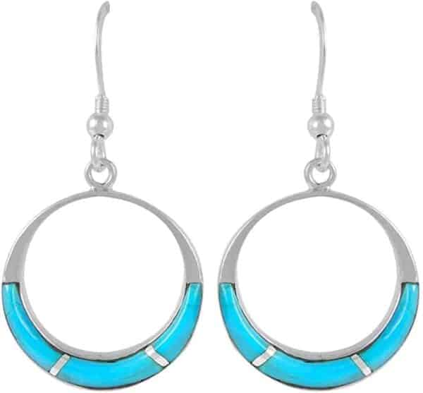 Turquoise Earrings 925 Sterling Silver