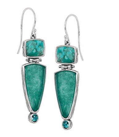 SilpadaTurquoise Quartzite Drop Earrings