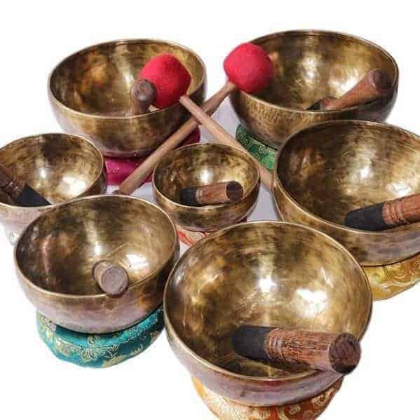 Chakra Healing Tibetan Singing Bowl Set 7 Amazing Quality Bowls