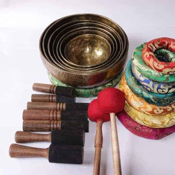 Chakra Healing Tibetan Singing Bowl Set - 7 Amazing Quality Bowls