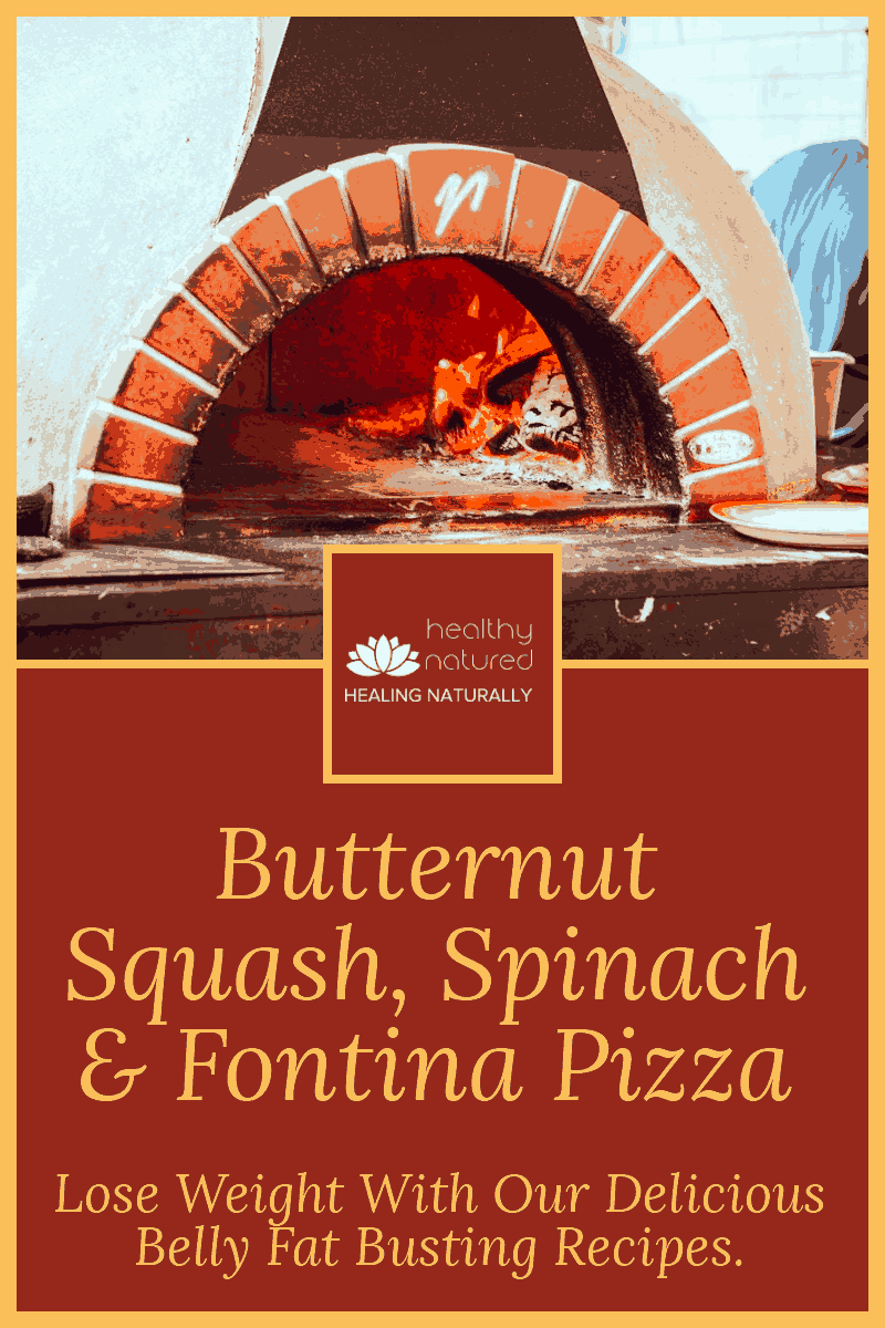 Healthy Butternut Squash Pizza (With Spinach And Fontina)