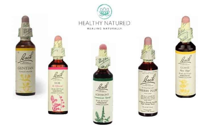 Bach Flowers Natural Supplements For Anxiety - Gentian, Elm, Agrimony, Cherry Plum, Gorse