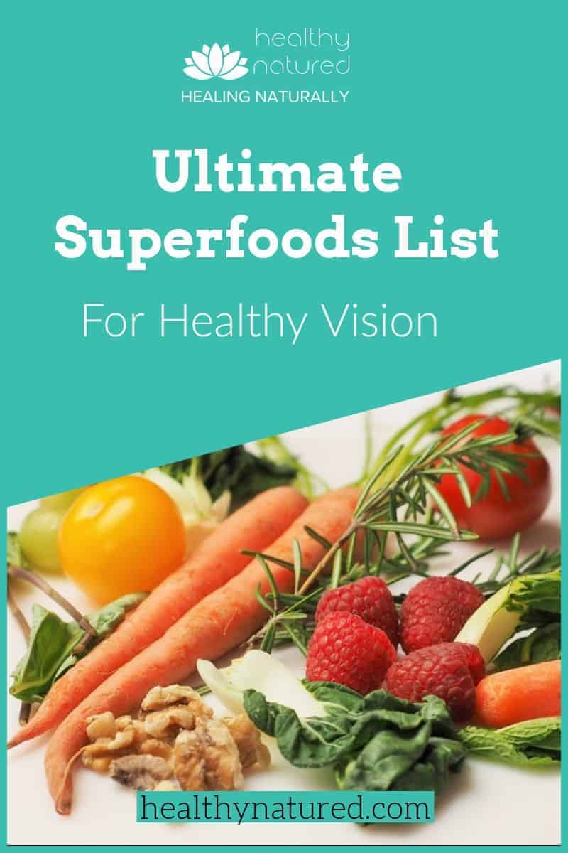 Ultimate Superfoods List. Best 10 For Healthy Vision (And Sublime Smoothie Recipes)