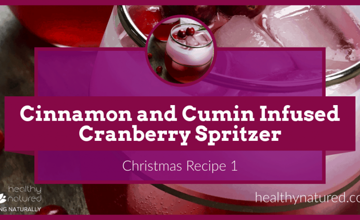Christmas Recipe - Cinnamon And Cumin Infused Cranberry Spritzer