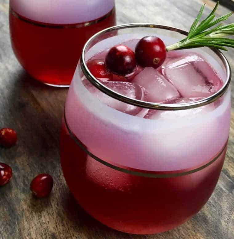 Cinnamon And Cumin Infused Cranberry Spritzer