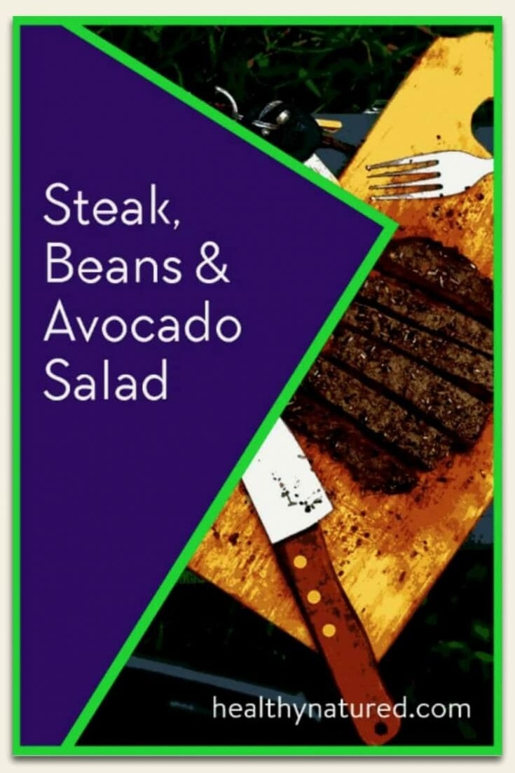 Steak Beans Avocado Salad 1