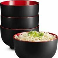 Kook Japanese Ceramic Noodle Bowl, Pho Or Ramen. Set Of 4.