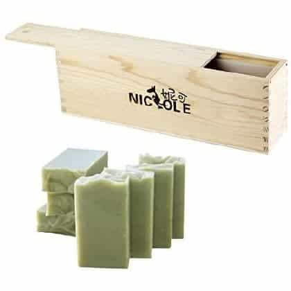 Diy NaturalSilicone Soap Mold Tall And Thin With Wooden Box