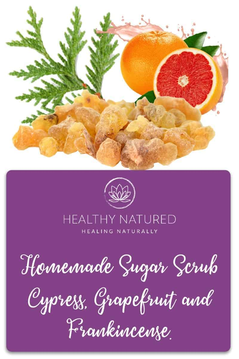 Cypress, Grapefruit &Amp; Frankincense Oil Homemade Sugar Scrub