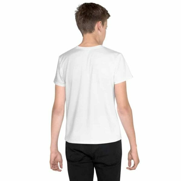 All Over Print Youth Crew Neck T Shirt White Back 60Fbb24Ca2846