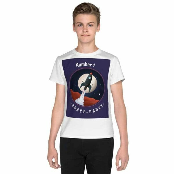 All Over Print Youth Crew Neck T Shirt White Front 60Fbb24Ca268E